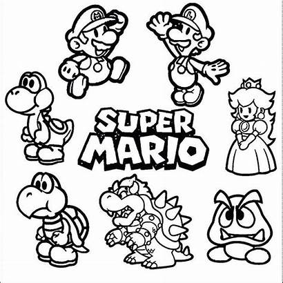Coloring Mario Pages Super A4
