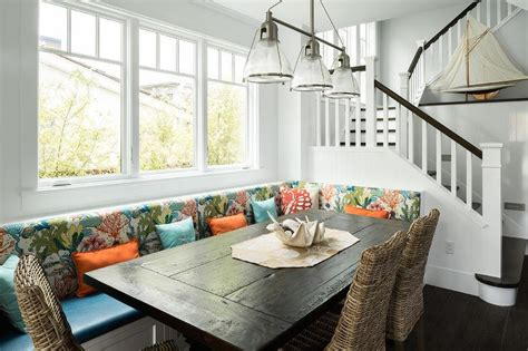 Metallic Dining Banquette With Zinc And Wood Trestle