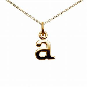 personalised gold plated letter a necklace lily charmed With letter necklace a