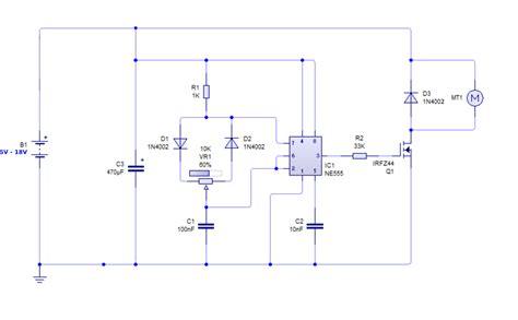 metode pwm driver motor dc dengan ic 555