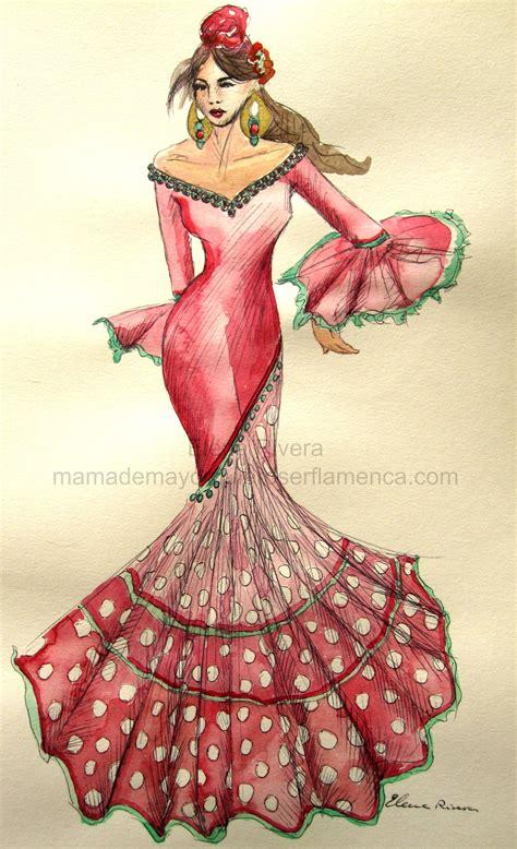 Descubre miles de vectores gratis y libres de derechos en freepik. Pin de conchi marín en traje ⊰gitana flamenca | Vestidos ...