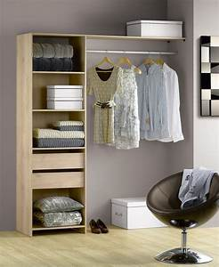 Dressing Leroy Merlin Modulable : interesting tout un rangement de dressing en bois with ~ Zukunftsfamilie.com Idées de Décoration
