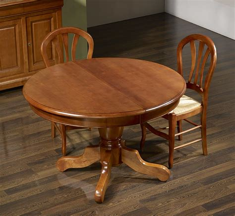 table ronde 90 cm pied central table ronde pied central aline en merisier massif de style louis philippe diam 232 tre 120 5