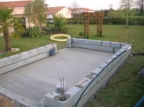 construction de mon abri de jardin debut de pose de parpaing With garage en parpaing de 20m2