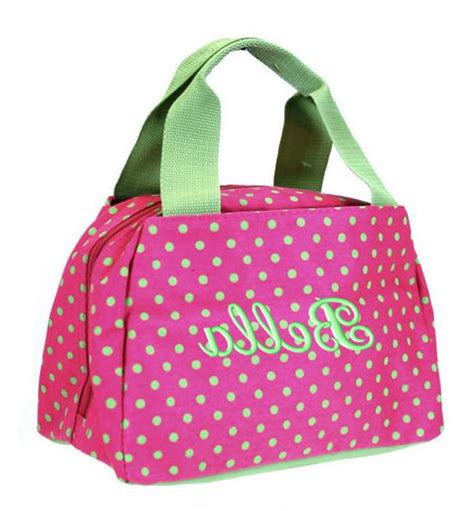 monogram lunch bag  fashion bags
