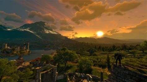 Animated Witcher 3 Wallpaper - the witcher 3 hunt sunset 8k ultra hd wallpaper