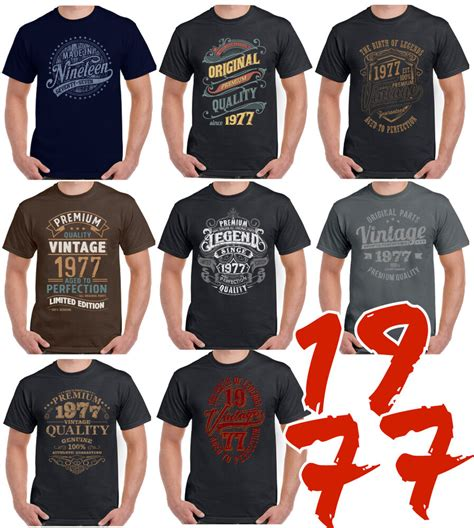 8 Designs For 1977 A Mens 42nd Birthday T Shirt 42 Year