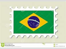 Brazil Flag Stamp Royalty Free Stock Photography Image