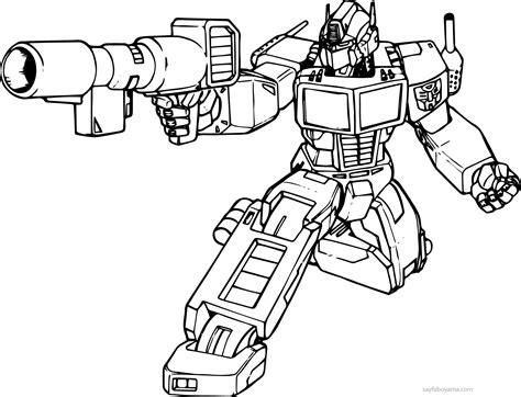 Robot Araba Resmi Boyama Boyama Sayfasi