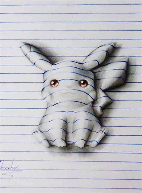 year  artist draws amazing  optical illusions