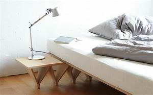 Bett Mit Nachttisch : tojo bett das multitalent im schlaf und g stezimmer ~ Frokenaadalensverden.com Haus und Dekorationen