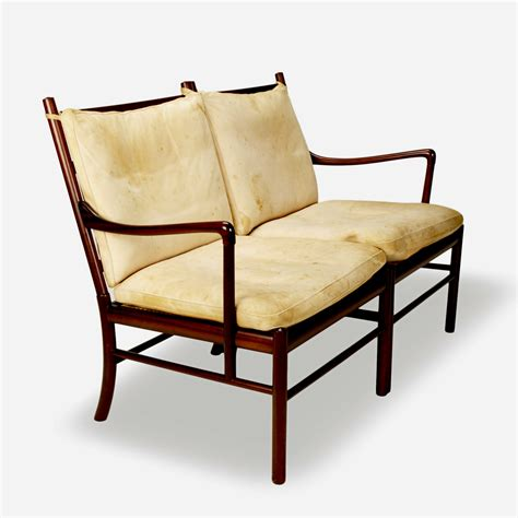 colonial settee gallery bac colonial settee in rosewood by ole wanscher