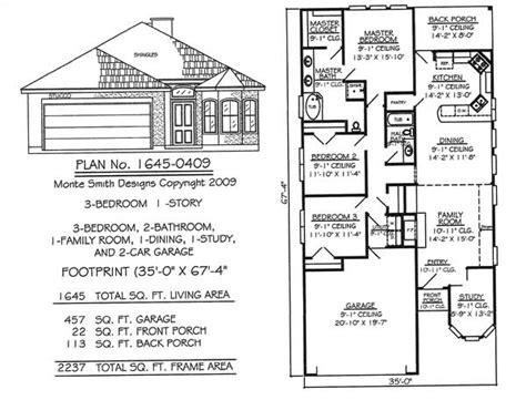 3 bedroom floor plans with garage narrow 1 floor plans 36 wide