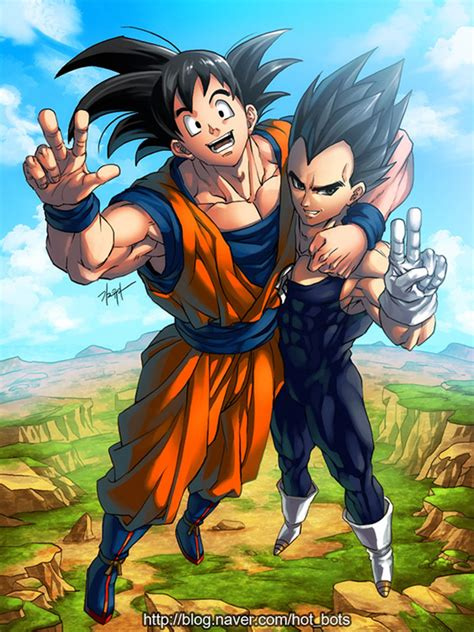 Goku Vegeta Fist Bump Dragon Soul Book Announcement The Dao Of Dragon Ball