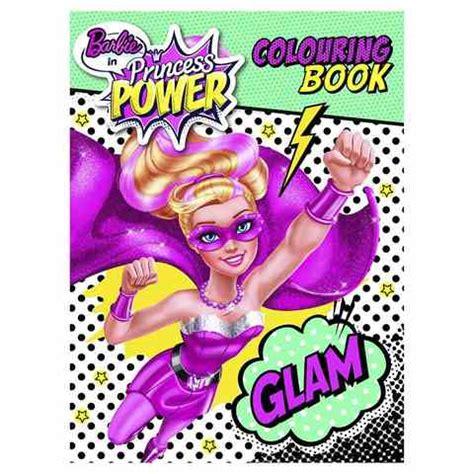 barbie  princess power colouring book kmart