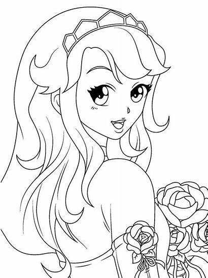 Coloring Pages Manga Animated