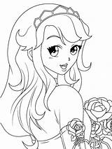 Coloring Pages Manga Animated sketch template