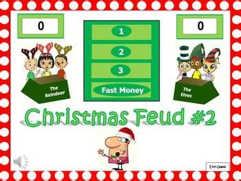 christmas feud powerpoint game   funs