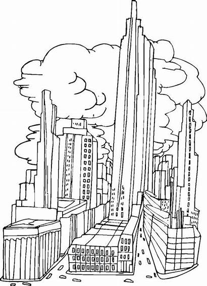 Coloring Pages York Drawing Skyline Colouring Buildings