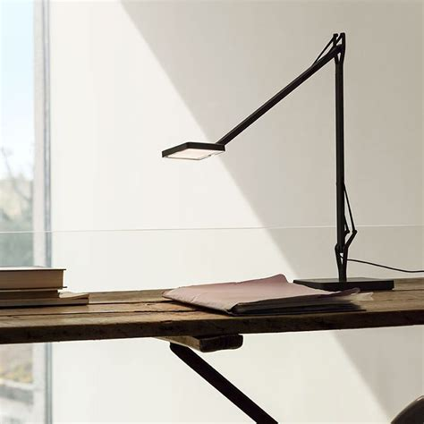 Every inch of its mechanics have been we Flos Kelvin LED Base Table Lamp Anthracite F3311033 Dimmable - Diffusione Luce srl