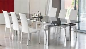 glass dining room table set modern dining room set bonaldo
