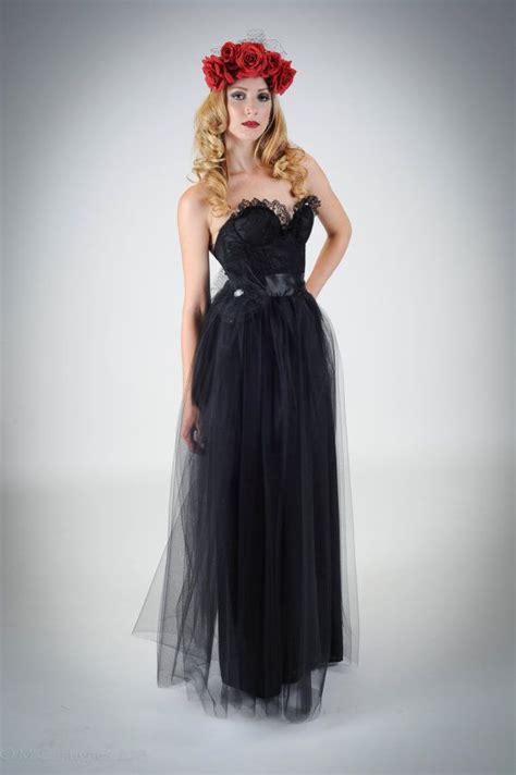 dark siren wedding dressgown  black lace