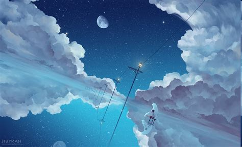 Anime Sky Wallpaper - anime clouds sky wallpapers hd desktop and mobile