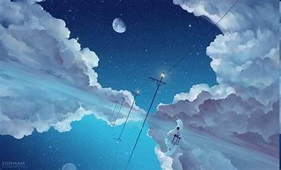 Anime Sky Clouds Desktop Backgrounds Wallpapers