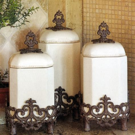 kitchen jars and canisters the gg collection provencal canister set in