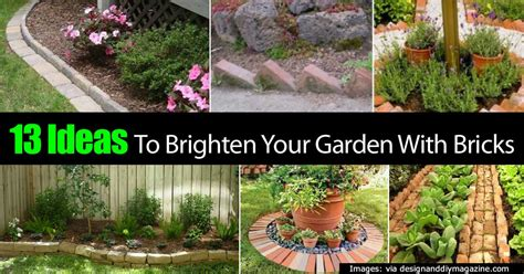 bricks garden pics 13 ideas to brighten your garden with bricks