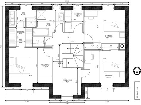 plan maison etage 4 chambres plans de maisons