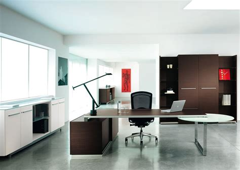 stylish computer tables modern executive office design with two tone interior