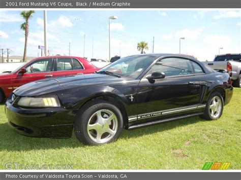 2001 ford mustang coupe black 2001 ford mustang v6 coupe medium graphite