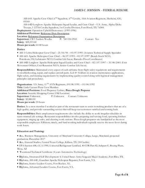 Apache Resumeapache Resume by C Johnson Federal Resume 20150923