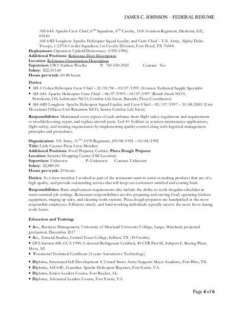 c johnson federal resume 20150923