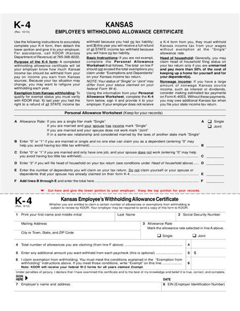 employees withholding allowance certificate kansas