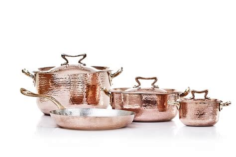 amoretti brothers copper cookware set   standard