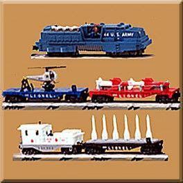 lionel  missile launch train set model trains