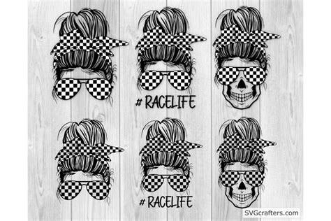 Check spelling or type a new query. Messy Bun Racelife svg, Racing svg, Racing life svg ...
