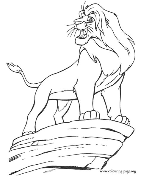 lion king simba  king coloring page