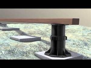 Wieviel Cm Dämmung : h henverstellbare terrassenlager stelzlager stellf e justierf e youtube ~ Eleganceandgraceweddings.com Haus und Dekorationen