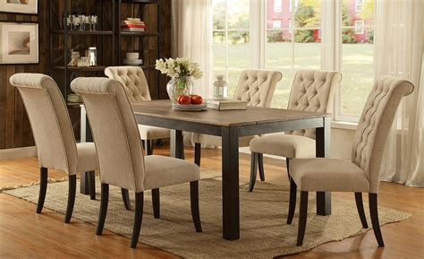 ivory tufted dining room chairs dining room design