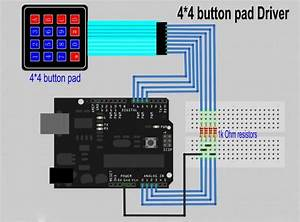 Sealed Membrane 4 4 Button Pad With Sticker  Hy