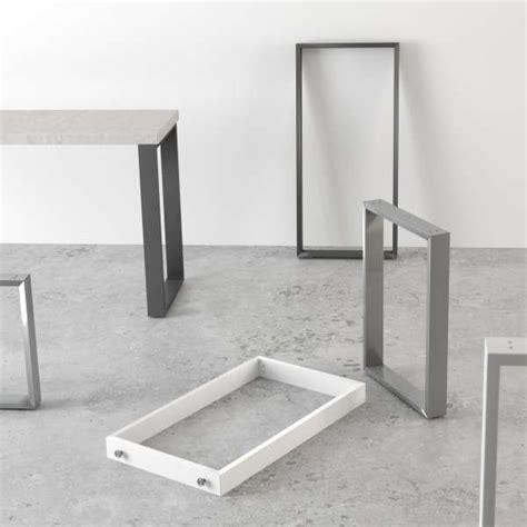 pied de table traineau de cuisine hauteur 73 88 ou 108 cm fix 4 pieds