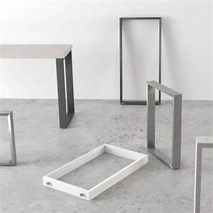 Pied De Table : pied de table traineau de cuisine hauteur 73 88 ou 108 cm fix 4 ~ Teatrodelosmanantiales.com Idées de Décoration