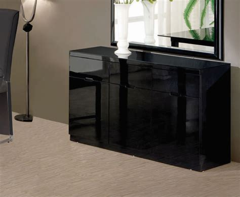 High Sideboard by Swiss Black High Gloss Small Sideboard