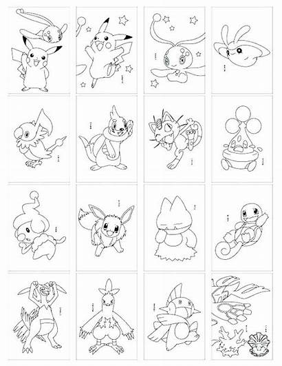 Coloring Cards Pages Card Deck Pokemon Rare