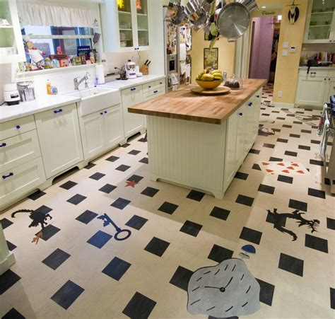 linoleum kitchen contemporain cuisine