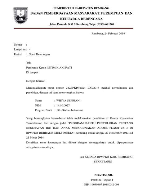 Contoh Surat Balasan Penelitian Dari Sekolah Surat 0