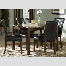 Achillea Faux Marble Dining Room Set From Homelegance